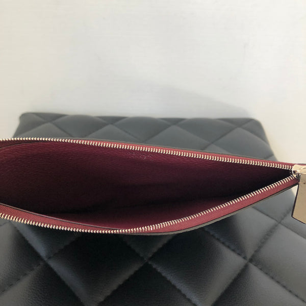 Moynat Paris Train Print Multicolor Leather Clutch/Pouch