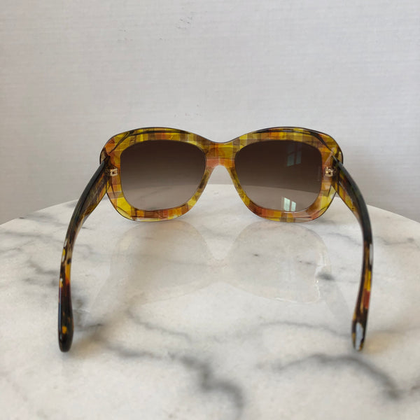 Chanel Brown/Yellow Sunglasses
