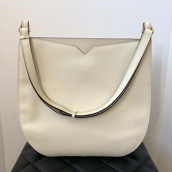 Valextra White Shoulder Bag