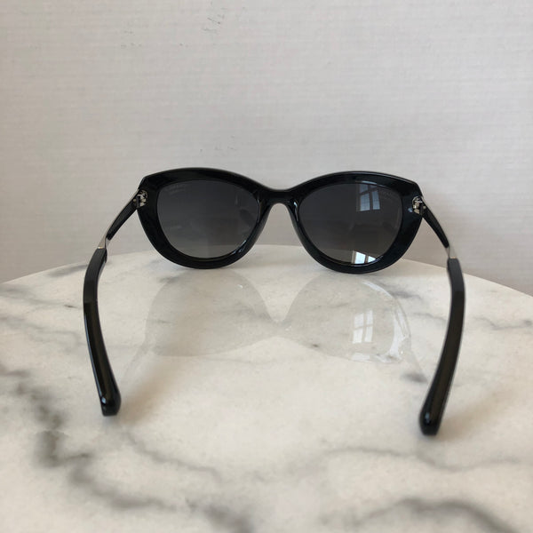Chanel Black/Silver Stingray Polarized Sunglasses
