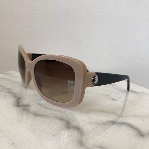 Chanel Beige/Black Sunglasses