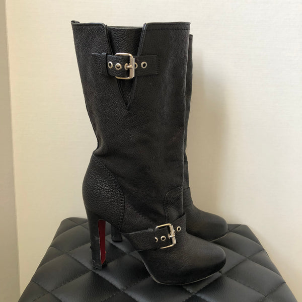 Christian Louboutin Black Boots Size 37