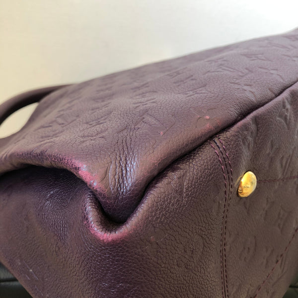 Louis Vuitton Artsy MM Purple Monogram Empreinte Leather