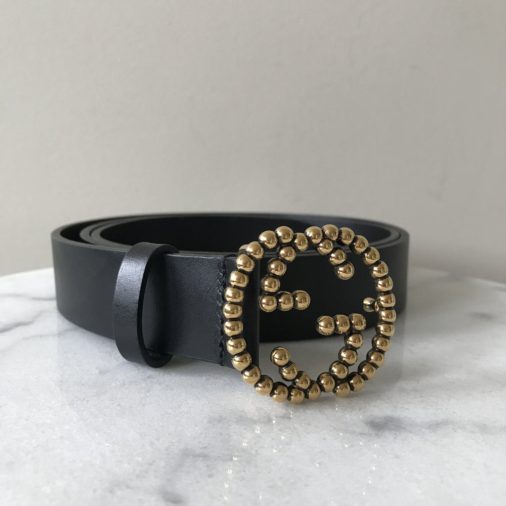 2603bdc4b9b Gucci Black Slim GG Belt Size 105 42
