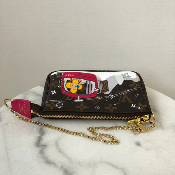 LOUIS VUITTON Monogram Vivienne Xmas Courchevel Mini Pochette Accessories