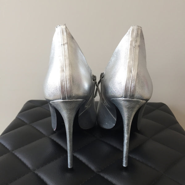 Tom Ford Silver Booties Size 39