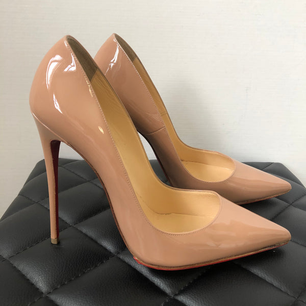 Christian Louboutin Nude Patent So Kate Pumps Size 40