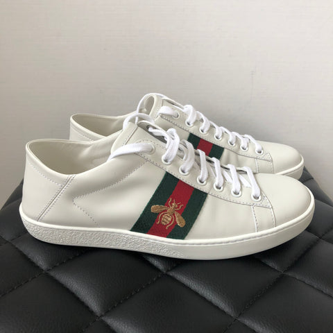 Gucci White Ace Bee Sneakers Size 37.5