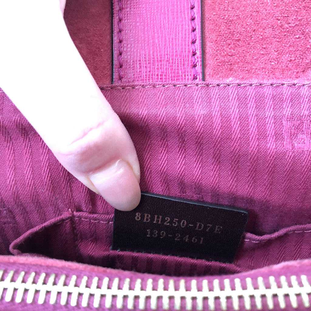 e673ca361beb ... Fendi Medium Magenta Pink 2Jours Elite Textured-Leather Shopper  Shoulder Bag ...