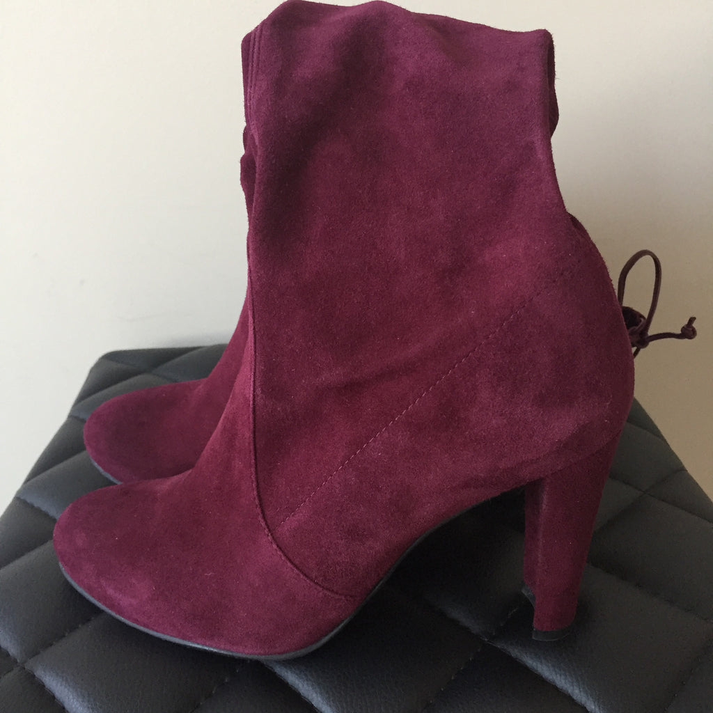 ca7a8775684 ... Stuart Weitzman Highland Over the Knee Boots Bordeaux (Burgundy) Suede  Size 8.5 ...