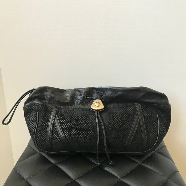 See by Chloe Black Leather/Suede Clutch