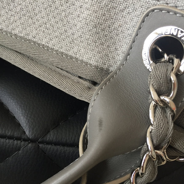 Chanel Canvas Deauville Grey Large Tote