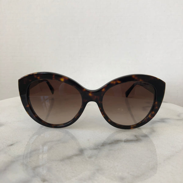 Tiffany Dark Havana/Gradient Brown Cat Eye Sunglasses