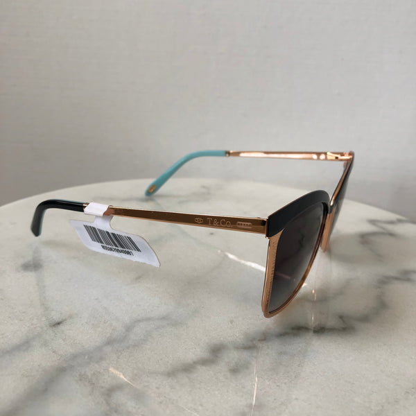 Tiffany Black/Rose Gold Sunglasses