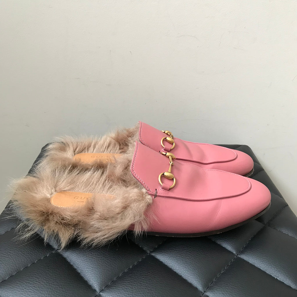 1a6290dfd Gucci Pink Leather Princetown Slipper Size 39 | Forever Red Soles