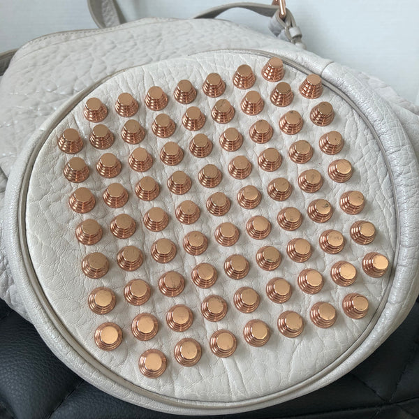 Alexander Wang Diego Studded Lilac Pebble Rose Gold Hardware Bucket Bag