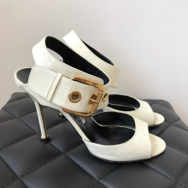 Manolo Blahnik White Sandals Size 38