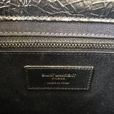 Saint Laurent Black Crinkled Calfskin Leather Niki Chain Wallet/Crossbody Bag