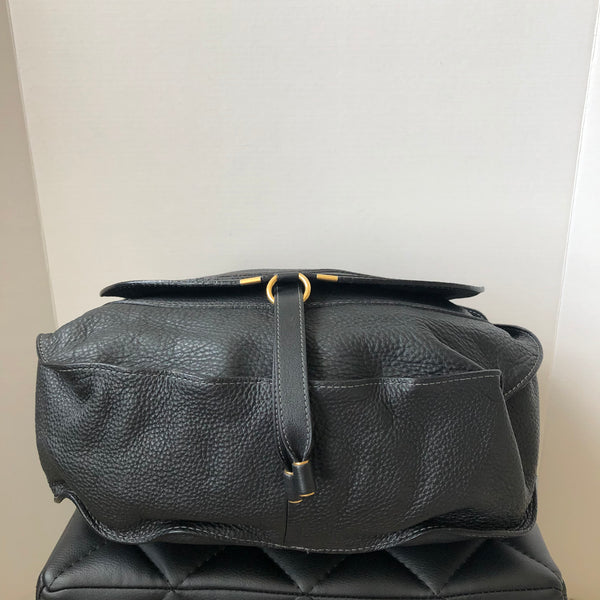 Chloe Black Large Marcie Hobo Shoulder Bag