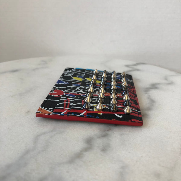 Christian Louboutin Multicolor Spiked Card Holder