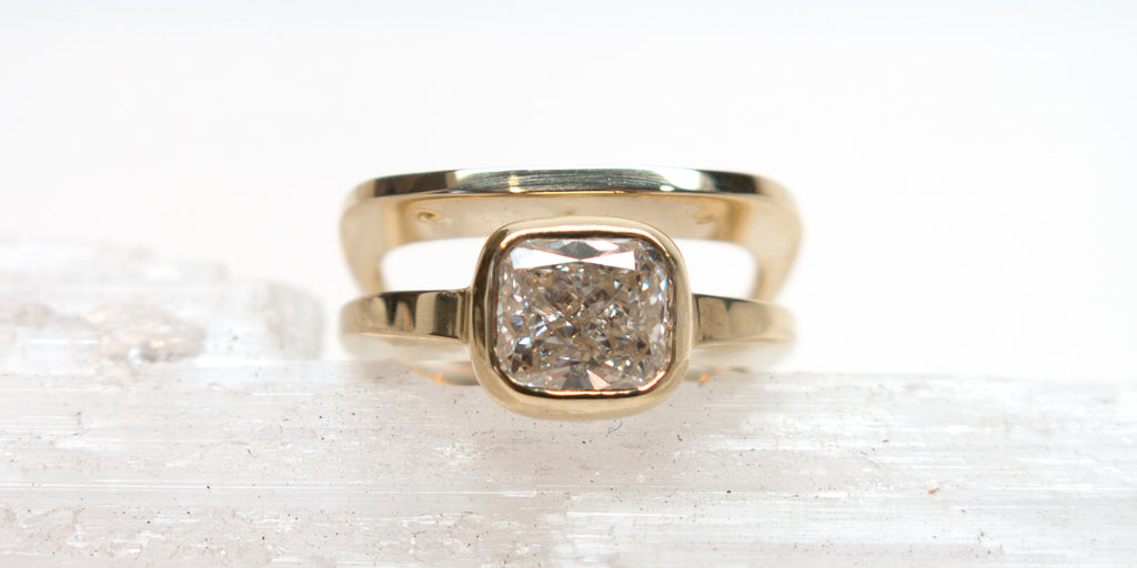HOWL Custom Engagement Ring 14k gold