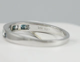 14k white Blue and White Diamond Anniversary Band, (0.25 tdw) 00009812