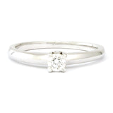 BIRKS White Gold Solitaire Diamond Ring