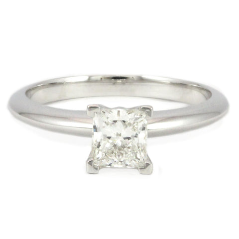 "<font color=""red""><b>SOLD</b></font><p>18k White Gold Solitaire Engagement Ring, (0.75 tdw) #1417"