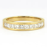 14k Yellow Princess Diamond Anniversary Band, (0.75 tdw) 00008525