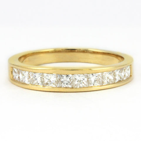 14k Yellow Princess Diamond Anniversary Band, (0.75 tdw)