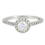 "<font color=""red""><b>SOLD</b></font><p>14k White Gold Halo Design Engagement Ring, (0.65 tdw) #2294"