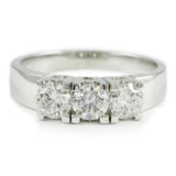 "<font color=""red""><b>SOLD</b></font><p>14kt. white gold 3-stone ring, (1.00 tdw) #2451"