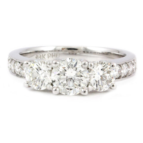 18k White Gold Engagement Ring Containing 8 Round Brilliant Cut Diamonds, (1.94 tdw) #2459