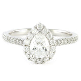 14k White Gold Halo Design Engagement Ring, (0.92 tdw) #3236