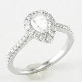 "<font color=""red""><b>SOLD</b></font><p>14k White Gold Halo Design Engagement Ring, (0.92 tdw) #3236"