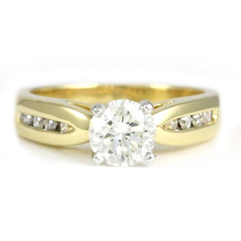 "<font color=""red""><b>SOLD</b></font><p>18k Yellow Gold Diamond Channel Set Ring, (1.14 tdw) #3237"