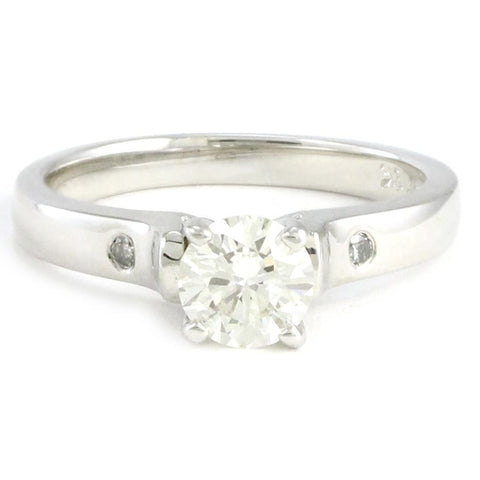 "<font color=""red""><b>SOLD</b></font><p>18k 3 Stone Diamond Engagement Ring, #3378"