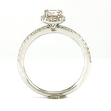 14k White Gold Morganite Ring, (0.70 tdw) #3629