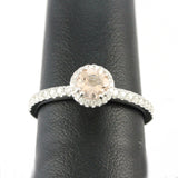 14k White Gold Morganite Ring, (0.70 tdw) #00011273