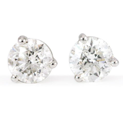 "14kt. White Gold Diamond Studs (1.40tdw, I1, FG, VG) <font color=""green""><b><i>Inquire within for price</i></b></font><p>"