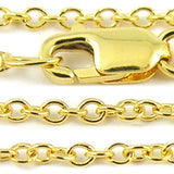 Yellow Gold Cable Chain Necklace
