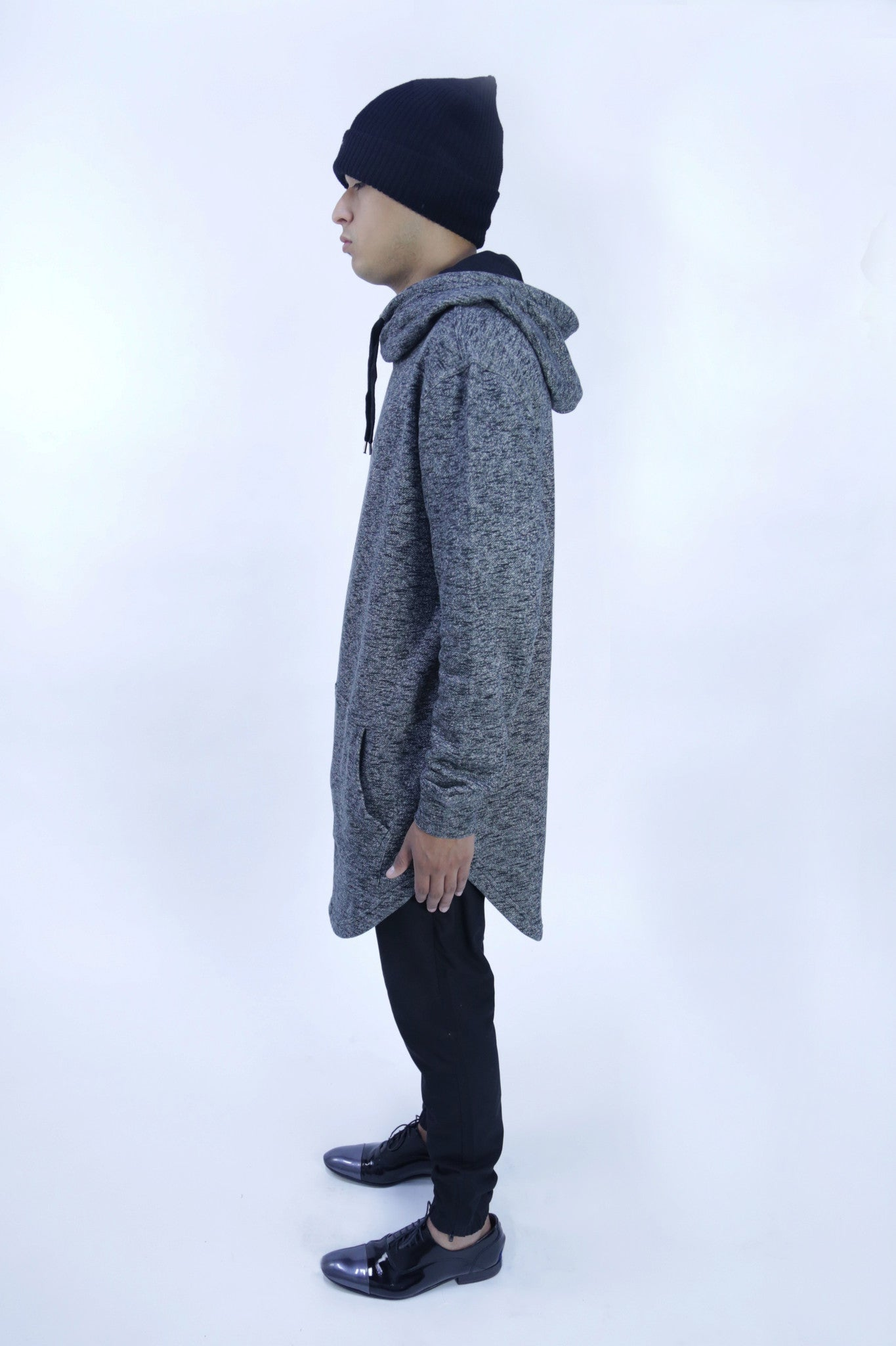 Long Elongated Rear Zip Sweater