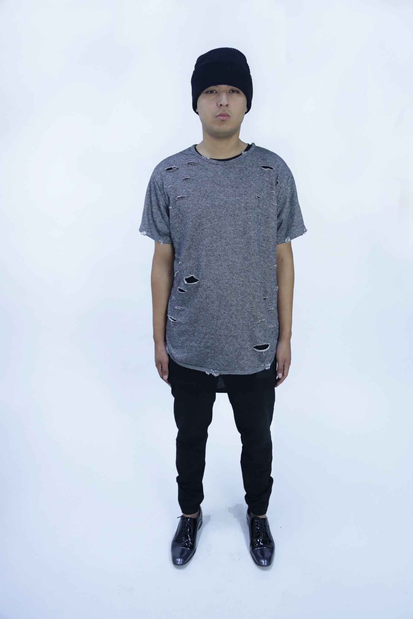 Shredded Trasher Elongated Tee