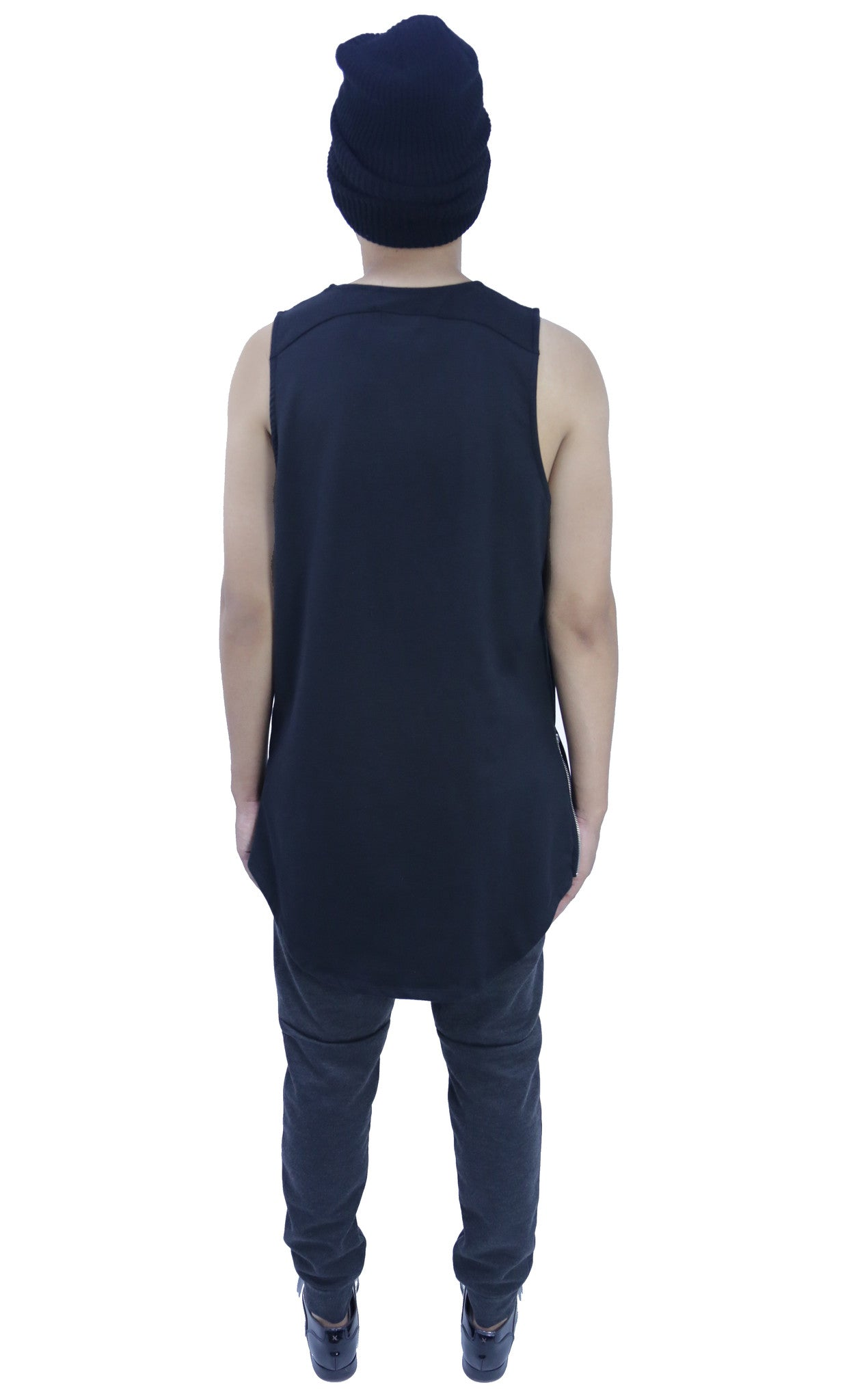 Elongated Zip Tank Top