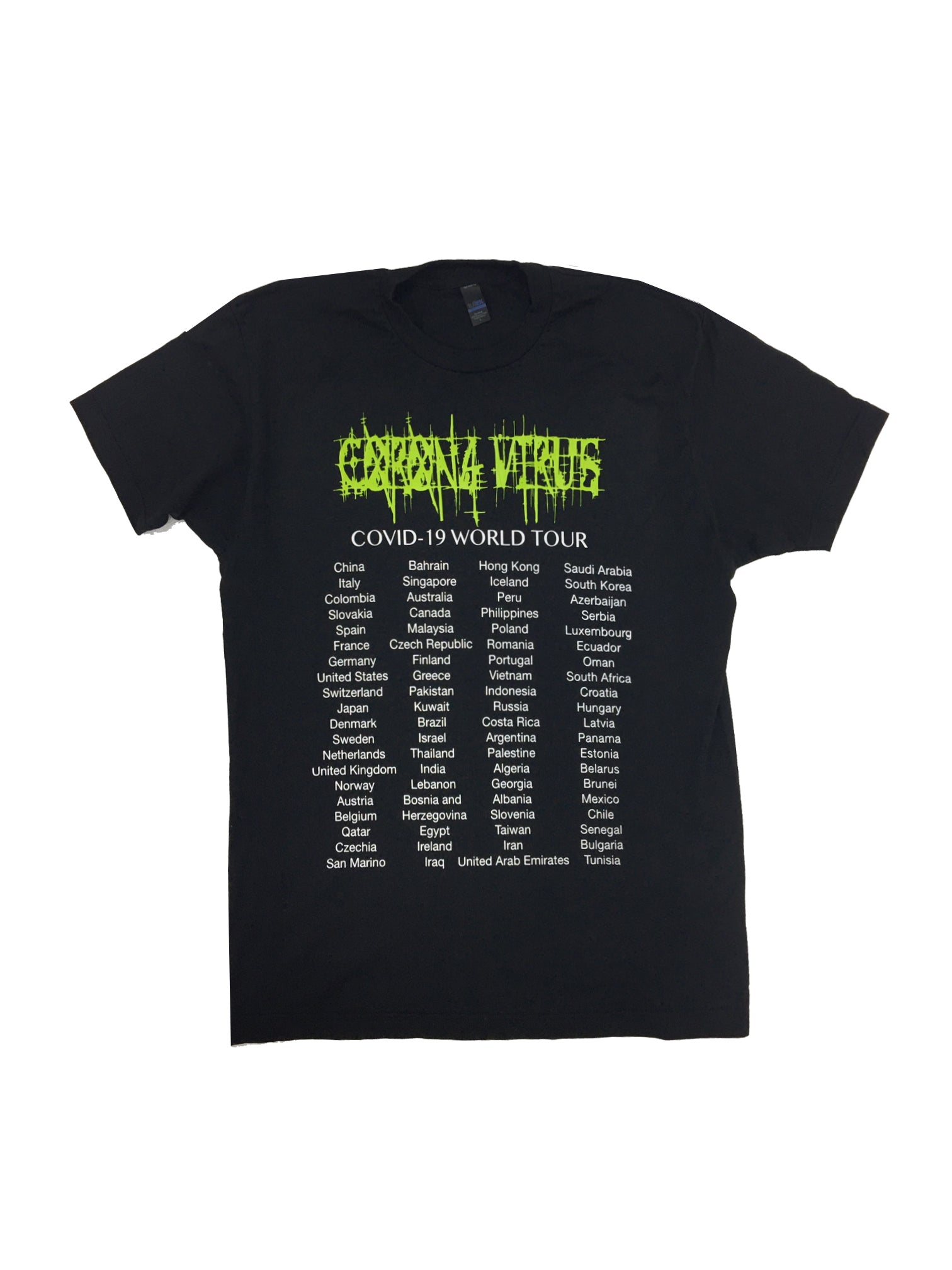 Corona Virus Tee World Tour