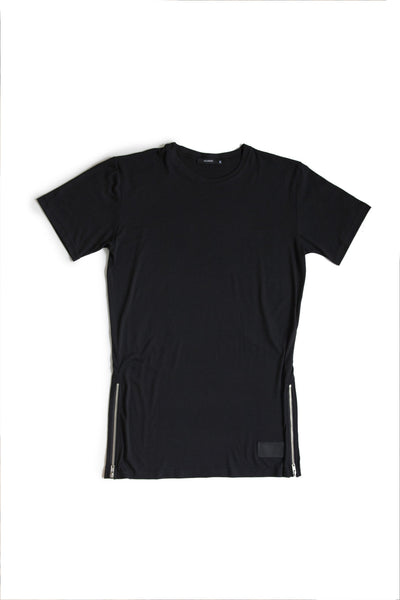 Black Tee Essential X-tra Length w/ Zip