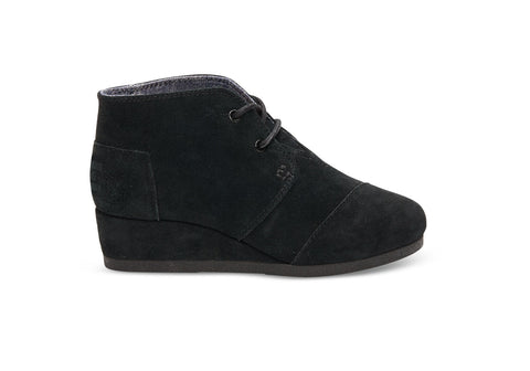 TOMS SUEDE DESRT WEDGE KIDS SHOES