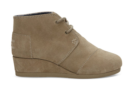 TOMS SUEDE DESERT WEDGES WOMENS SHOES