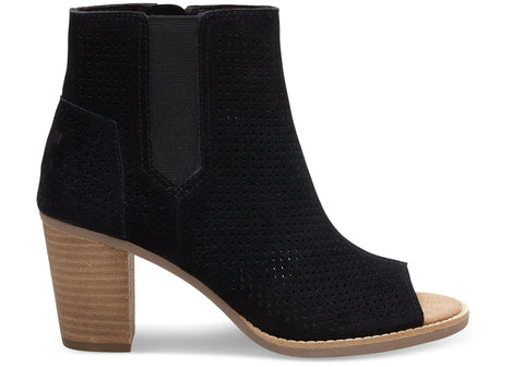 TOMS SUEDE PERFORATED MAJORKA BOOTIES WOMENS SHOES