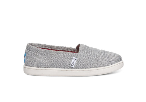 TOMS GLIMER LINEN KIDS SHOES